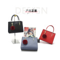 Personalized Red Long Strap Tote Handbag Bags
