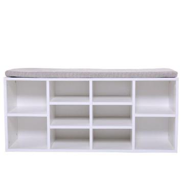 White Wooden Shoe Rack Design Online