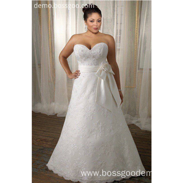 Fashion Lace Embroidered Bridal Gown
