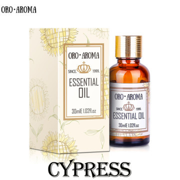 Famous brand oroaroma natural Cypress oil Keep skin moisture Relieve muscle spasm appease Cypress essential oil