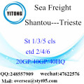 Shantou Port Sea Freight Shipping To Trieste