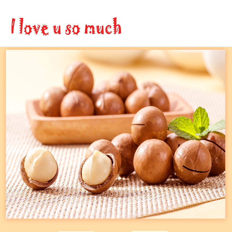 Quality Macadamia Nuts with Shell Hawaii Nut 1000g/lot Food in Bulk Weight Cream flavor Eat Directly Snack Crispy ,Chinese food