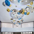 Project bubble shape glass chandelier pendant light