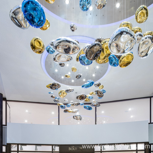 Custom shopping lobby led chandelier pendant light