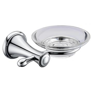 Elegant soap holder with glass dish