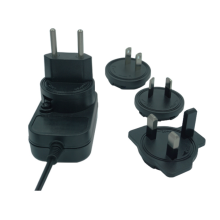 Wall Power Adapter with Interchangeable Plugs