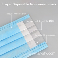 3ply non-woven disposable face mask with filter