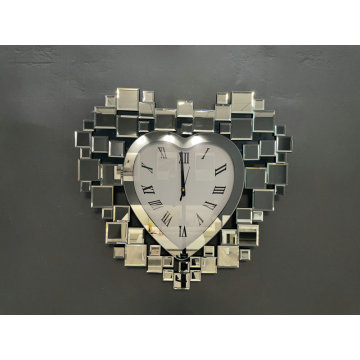 Heart wall Clock glass