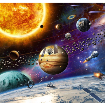 GIBBON Puzzles Games  Planetary Vision Jigsaw Puzzle