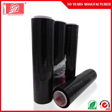 black stretch film pallet shrink wrapping plastic film