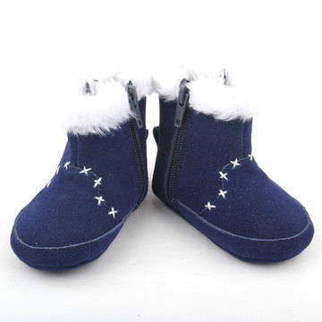 Genuine Leather Snow Boots Kids Baby Shoes
