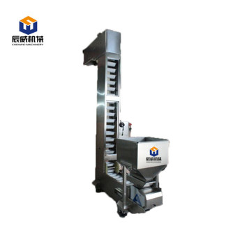 Bucket elevator for packing machine