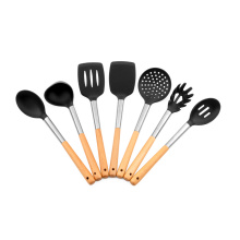 Garwin silicone kitchenware with wood handle