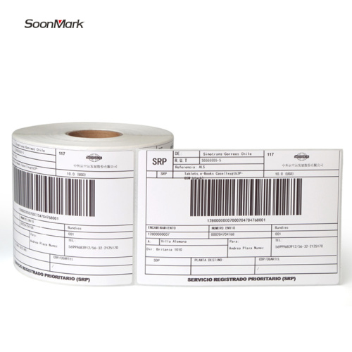 Self adhesive blank shipping address paper label