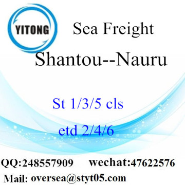 Shantou Port LCL Consolidation To Nauru