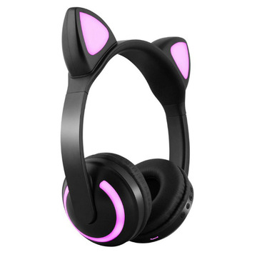 Borong Seven Color Control Wireless Cat Telinga Kucing