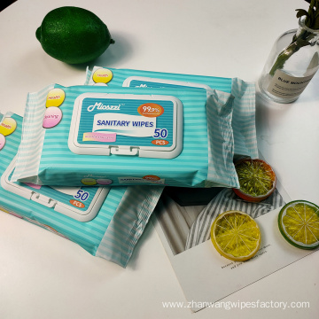 Wholesale Bag Packed Flushable Sanitary Wipes