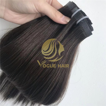 Best black PU clip in hair extensions
