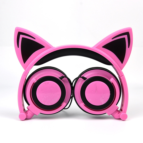 Popular cat ear wired stereo music headphones