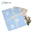 Warm Cartoon Printed Baby Swaddle Multilayer Blanket
