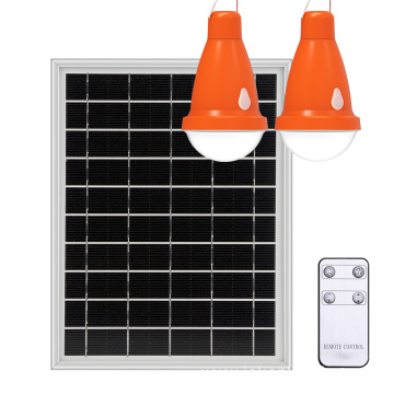 12W Solar Panel Portable Solar Power Lighting System