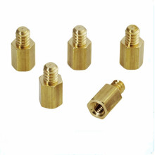 Male Knurling Brass Round Pillar Standoff Spacer