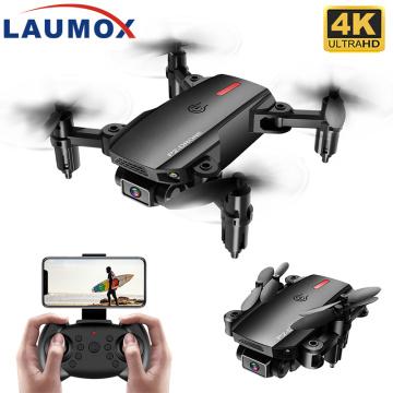 LAUMOX P2 Mini Drone Wifi FPV 1080P 4K HD Dual Camera Gravity Sensor Altitude Hold Black Gray Foldable Quadcopter RC Drones Toy