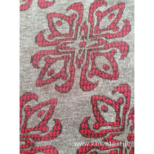 Monofil jacquard knitting fabric floral knit