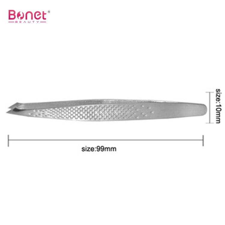 Pointed and roughness Stainless steel eyebrow tweezers