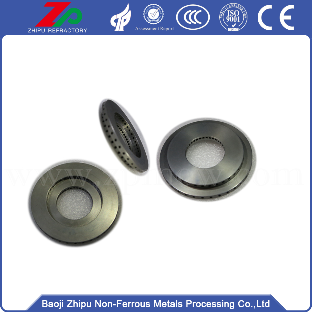 Forging casting tungsten flange for heating