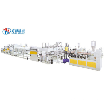 PC hollow solid corrugated sheet production line