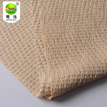 Wholesale 100 polyester white pleated stretchly fabric