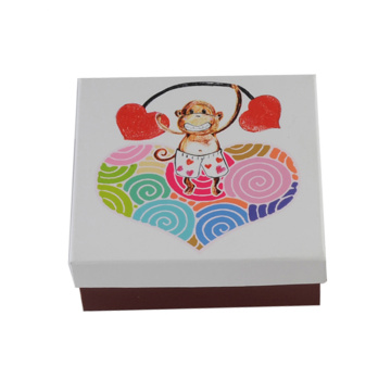 White Custom Logo Paper Gift Box for Children