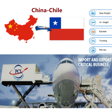 Honest and happy air freight shipping agent rates from China to Chile( SCL ) airport