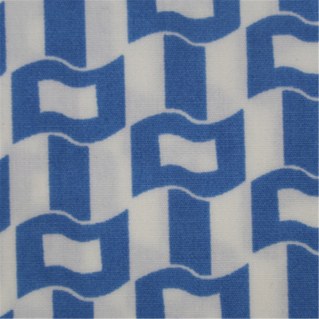Lake Blue Printed Cotton Poplin Fabric