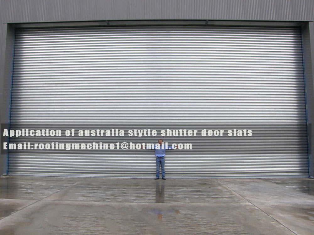 application of australia stytle shutter door roll forming machine