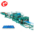 Eps tile sandwich panel steel wall making machine