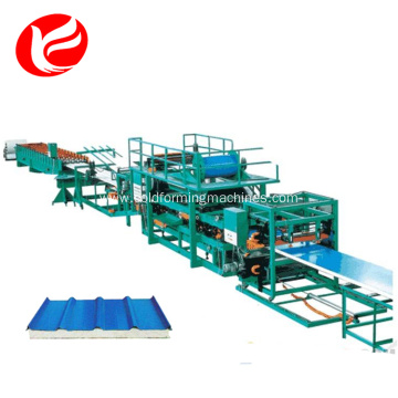 Rock wool and Eps sandwich panel production lines