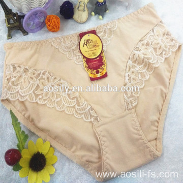 wholesale new design hot sale apricot cotton panty lace sexy hot underwear 5831
