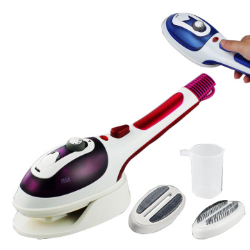 Hand - held steam brush ceramic underplate hanging ironing machine 2 in 1 portable steam iron brush