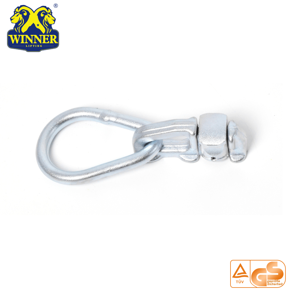 Top Quality Zinc Plated Double Stud Fitting With Oval Ring