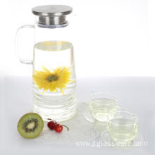 Glass Jug with Stainless Steel Silicone Lid