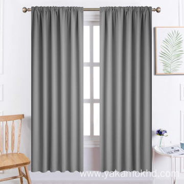 Grey Rod Pocket Curtains 72 Inch Long