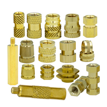 hex threading lock RIVETflange brass copper knurled nut