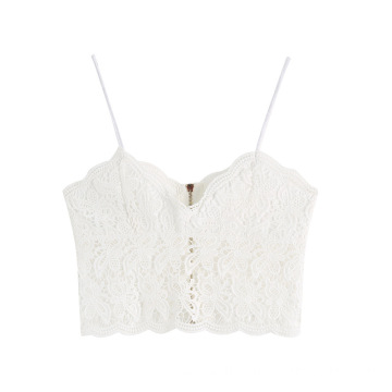Knitted Solid Zippered Vest Tank Crop Top