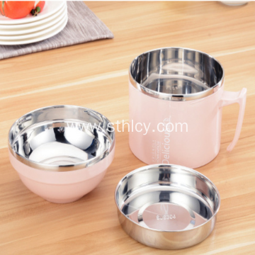 304 Stainless Steel Snack Cup Double Layer