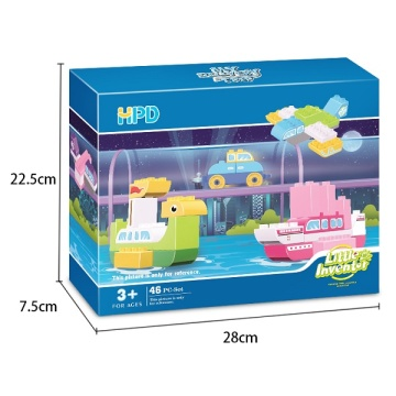 Plastic Educational Games Building Blocks