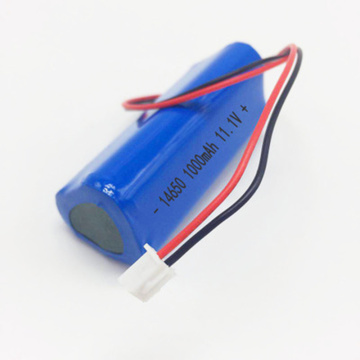 14650 3S1P 11.1V 1000mAh Lithium Ion Battery Pack