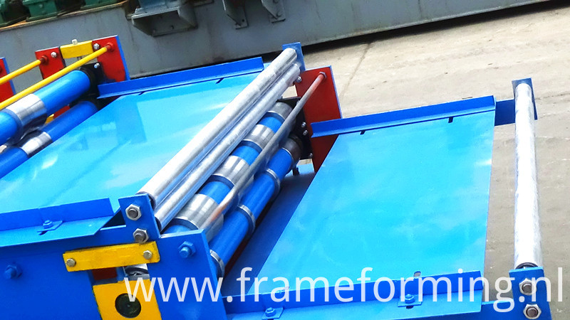 feeding part of colored steel roofing machine