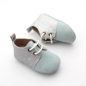 Glitter Soft Leather Unisex Baby Toddler Newborn Shoes